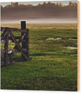 Sunrise At The Ranch Wood Print