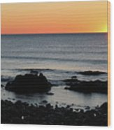 Sunrise At York Beach Wood Print
