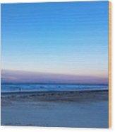 Sunrise Beach Walk Wood Print