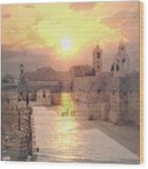 Sunrise Bethlehem Wood Print