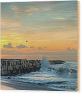Sunrise California Coast Wood Print