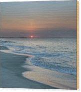 Sunrise - Cape May Beach Wood Print