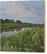 Sunrise Clouds Above Glacial Park's Nippersink Creek Wood Print