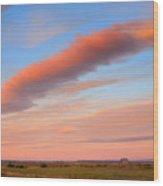 Sunrise Clouds And Barn Wood Print