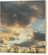 Sunrise Cloudscape Wood Print