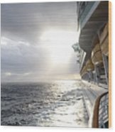 Sunrise Cruise Wood Print