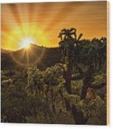 Sunrise Done With An Arizona Flare Wood Print