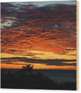 Sunrise Drama By The Sea Wood Print