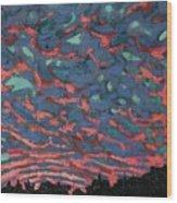 Sunrise Embers Wood Print