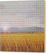 Sunrise Field 1 - Mosaic Tile Effect Wood Print
