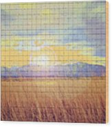 Sunrise Field 2 - Mosaic Tile Effect Wood Print