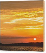 Sunrise Field Goal Wood Print