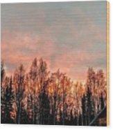 Sunrise Fire  Wood Print