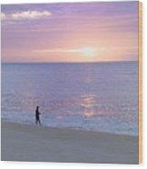 Sunrise Fisherman 2 Wood Print