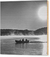 Sunrise Fishing 2 Wood Print