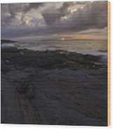 Sunrise From Beavertail In Jamestown Rhode Island Wood Print