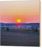 Sunrise From Confederate Avenue Gettysburg Wood Print
