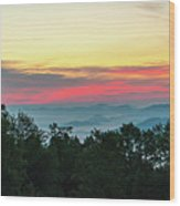 Sunrise From Maggie Valley August 16 2015 Wood Print