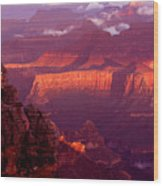 Sunrise From Mather Point Wood Print