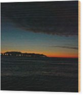 Sunrise From The Boat Wood Print