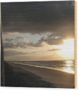 Sunrise From The Porch Wood Print