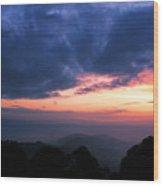 Sunrise From Tiger Hill In Darjeeling Wood Print