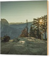 Sunrise Glacier Point Wood Print