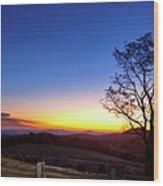 Sunrise Glow In Autumn Wood Print