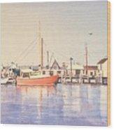 Sunrise Harbor Wood Print