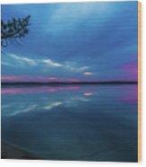 Sunrise Higgins Lake Wood Print