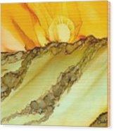 Sunrise Hill Wood Print