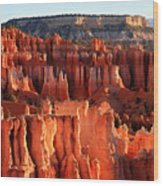 Sunrise Hoodoos In Bryce Canyon Wood Print