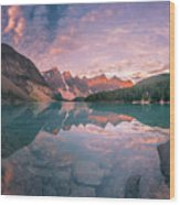 Sunrise Hour At Banff Wood Print