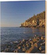 Sunrise In Acadia Wood Print