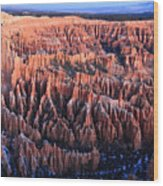 Sunrise In Bryce Canyon National Aprk Wood Print by Pierre Leclerc Photography