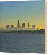 Sunrise In Cleveland Ohio Wood Print