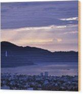 Sunrise In Da Nang 2 Wood Print