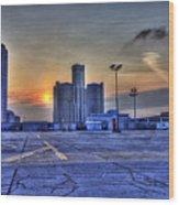 Sunrise In Detroit Mi Wood Print by Nicholas  Grunas