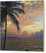 Sunrise In Fajardo, Puerto Rico Wood Print