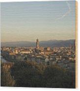 Sunrise In Florence Wood Print