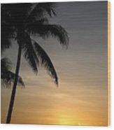 Sunrise In Florida / D Wood Print