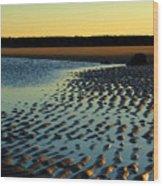 Sunrise In Gold Wood Print
