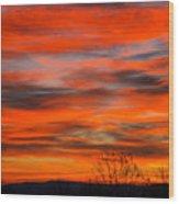 Sunrise In Ithaca Wood Print by Paul Ge