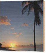 Sunrise In Key West 2 Wood Print