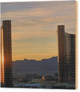 Sunrise In Las Vegas Wood Print