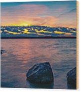 Sunrise In Motion Wood Print