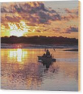 Sunrise In Murrells Inlet, Sc Wood Print