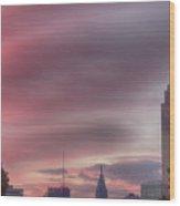 Sunrise In Philadelphia Wood Print