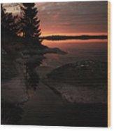 Sunrise In Pyynikki Wood Print