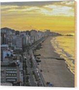 Sunrise In Rio De Janeiro Wood Print